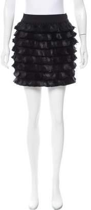 Robbi & Nikki Feathered Mini Skirt