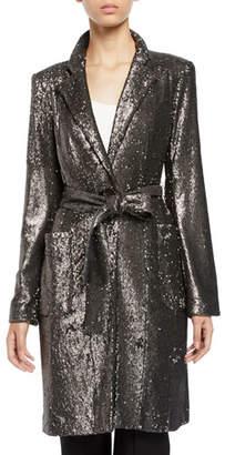 Nanette Lepore Sultana Sequin Self-Tie Coat