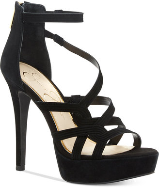 Jessica Simpson Bellanne Caged Platform Sandals $98 thestylecure.com