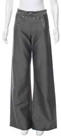 Marc JacobsMarc Jacobs Bead-Accented Wide-Leg Pants
