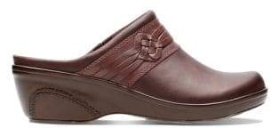 Clarks Collection By Marion Jess Leather Clogs