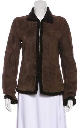 Ralph Lauren Shearling-Lined Suede Jacket