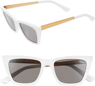 Quay x Desi Perkins Don't @ Me 48mm Cat Eye Sunglasses