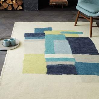 west elm Layered Rectangle Felt Rug
