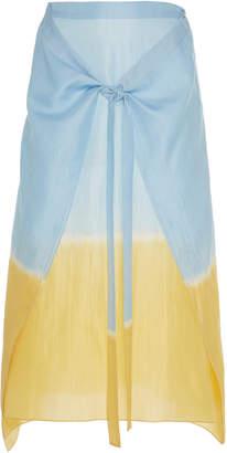 Tome Tie-Dye Silk Sarong Skirt