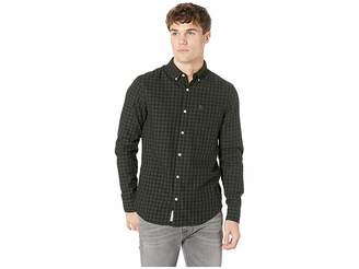 Original Penguin Long Sleeve Gingham Nep Woven Twill - Non-Stretch Shirt