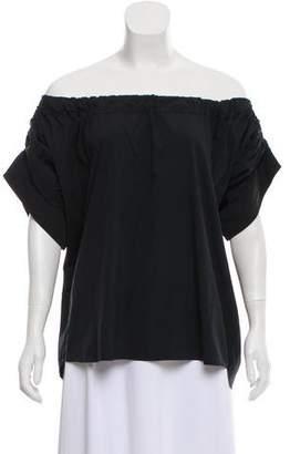 Calvin Klein Collection Off-The-Shoulder Short Sleeve Top
