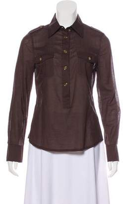 Tory Burch Point Collar Knit Top