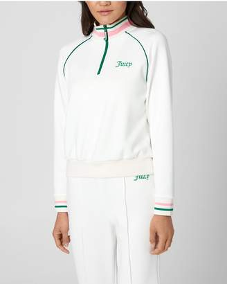 Juicy Couture TRICOT TENNIS HALP-ZIP PULLOVER