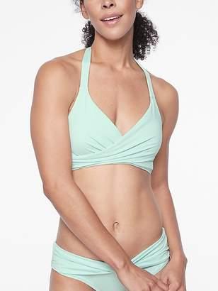 Athleta Bra Cup Wrap Halter Bikini Top
