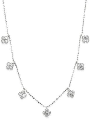 Bloomingdale's Diamond Clover Station Necklace in 14K White Gold, 1.0 ct. t.w. - 100% Exclusive