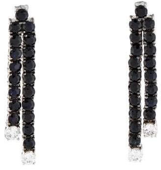 Roberto Coin 18K Black Sapphire & Diamond Fantasia Drop Earrings