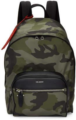 Neil Barrett Green Camo Backpack