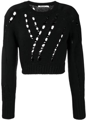 Alexander Wang cropped knit jumper