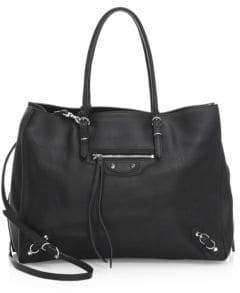 Balenciaga Papier Zip-Around B4 Leather Satchel