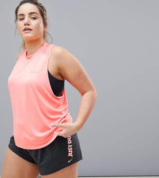 Nike Running Plus Dry Miler Tank In Pink