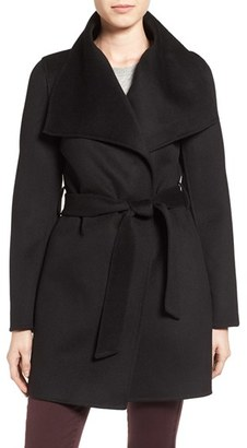 Women's Tahari 'Ella' Belted Double Face Wool Blend Wrap Coat $228 thestylecure.com