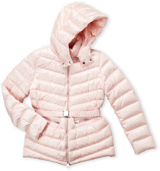 ADD Girls 7-16) Light Pink Hooded Down Coat
