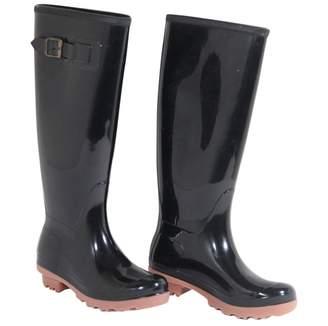 Max & Co. Black Plastic Boots