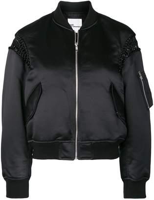 Comme des Garcons macrame detail bomber jacket