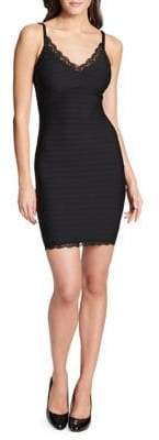 GUESS Lace-Trim Bodycon Dress