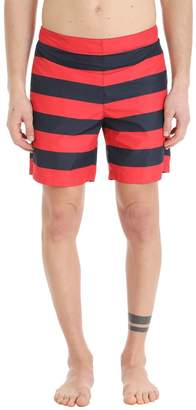 Jil Sander Blue/red Nylon Swimwear