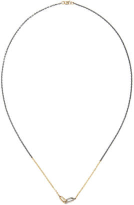 Pearls Before Swine Silver and Gold Two-Tone Link and Chain Necklace