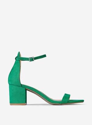 Dorothy Perkins Womens Green 'Sinner' Heeled Sandals