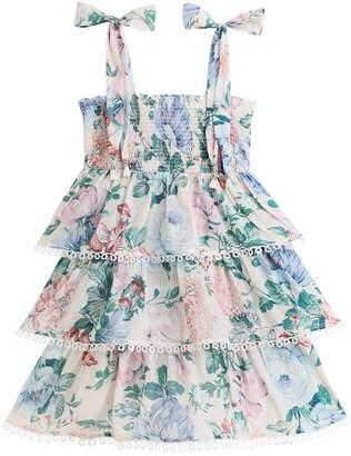 Zimmermann Verity Shirred Tiered Dress