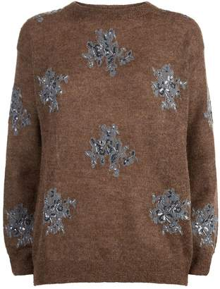 Brunello Cucinelli Sequin Embellished Sweater