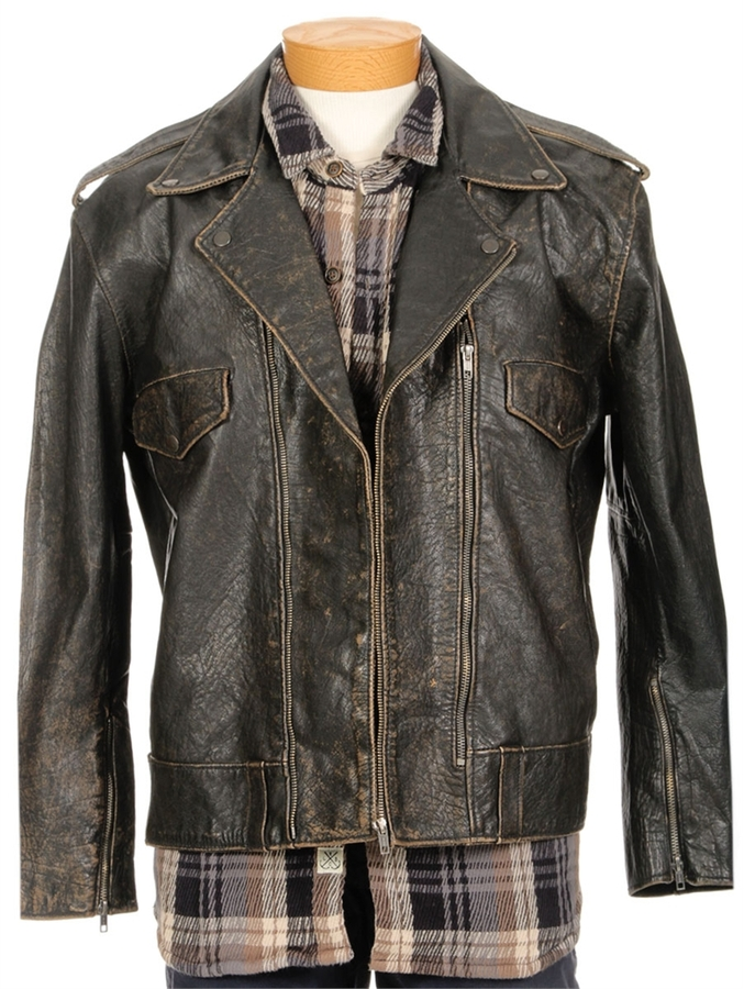 Levi's Washed Leather Biker Jacket