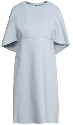 Valentino Cape-Effect Wool And Silk-Blend Mini Dress