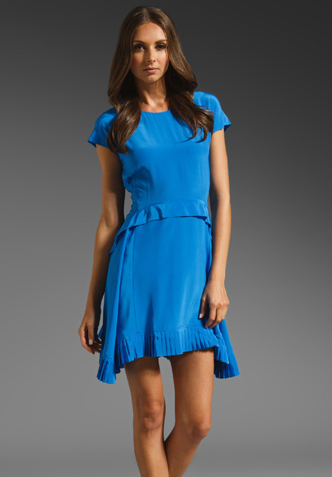 Juicy Couture Pleated Silk Dress