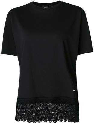 DSQUARED2 lace trimmed T-shirt