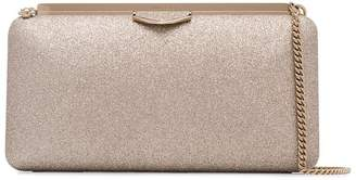 Jimmy Choo dusty glitter Ellipse clutch bag