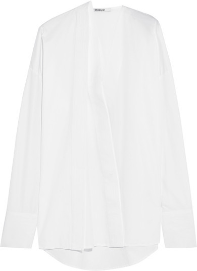 Chalayan Chalayan - Oversized Cotton-poplin Shirt - White
