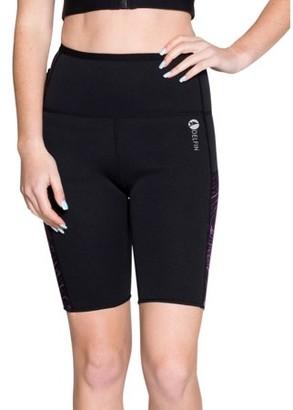 Delfin Spa Women's Heat Maximizing Neoprene Exercise & Anti-Cellulite Shorts, MYSTIC PURPLE/BLACK, Medium