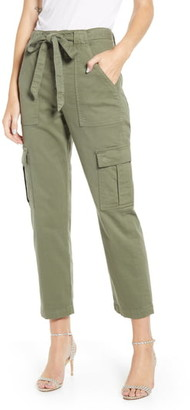7 For All Mankind High Waist Crop Cargo Pants