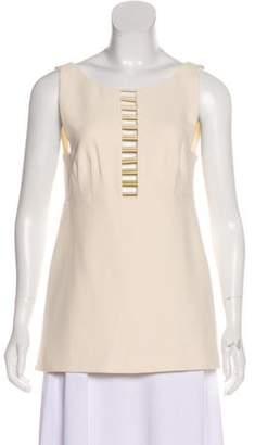 Foundrae Embellished Sleeveless Tunic gold Embellished Sleeveless Tunic