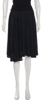 Antonio Berardi Knit-Trimmed A-Line Skirt Black Knit-Trimmed A-Line Skirt