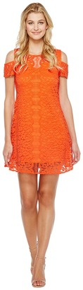 Christin Michaels - Jeannine Cold Shoulder Lace Dress Women's Dress $98 thestylecure.com