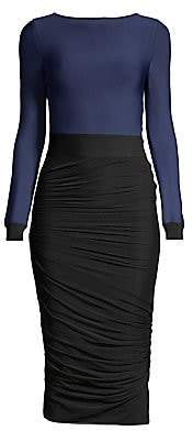 Herve Leger Women's Long Sleeve Ruched Dress