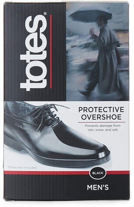 totes Black Protective Waterproof Overshoes