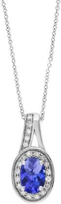 Effy 0.09 CT. T.W. Diamond, Tanzanite and 14K White Gold Pendant Necklace