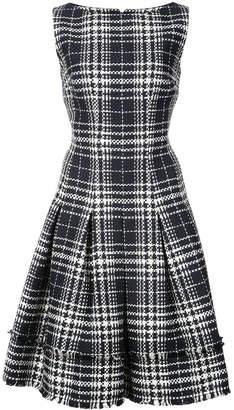 Oscar de la Renta box pleated dress