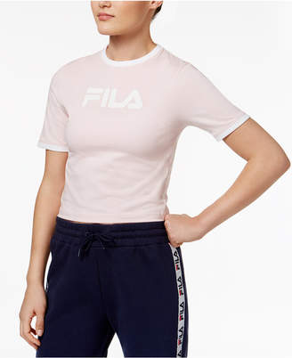 Fila Tionne Cropped Logo T-Shirt $38 thestylecure.com