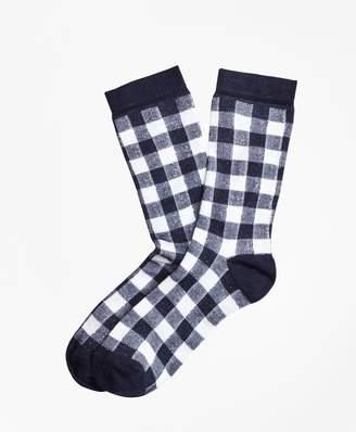 Brooks Brothers Gingham Socks