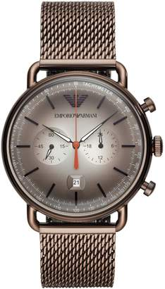 Emporio Armani Aviator Stainless Steel Chronograph Watch