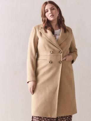 Camel Wool-Blend Coat - Addition Elle