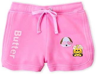Butter Shoes Girls 7-16) Puppy Patch Fleece Shorts